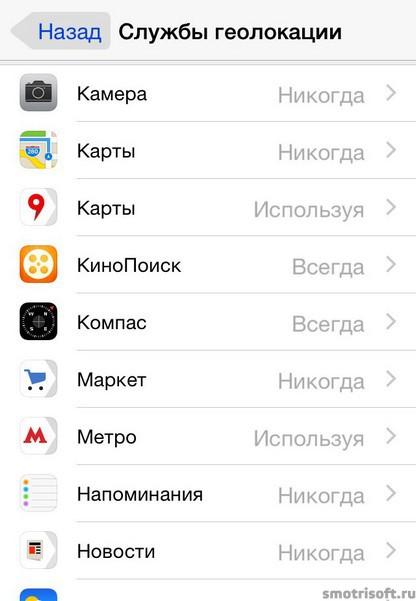 Как сохранить заряд батареи на iOS 8 (5)