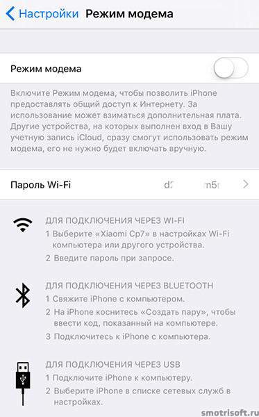 Как включить режим модема на айфоне (227)