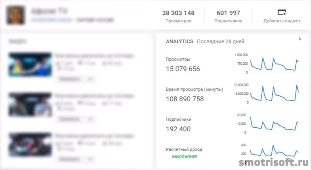 YouTube заработок Афоня TV-